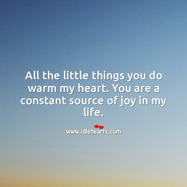 You are a constant source of joy in my life. Love Quotes for Her Image
