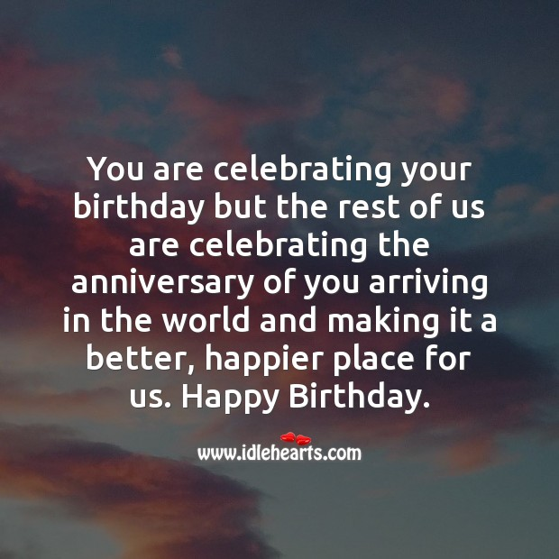 You are celebrating your birthday Image