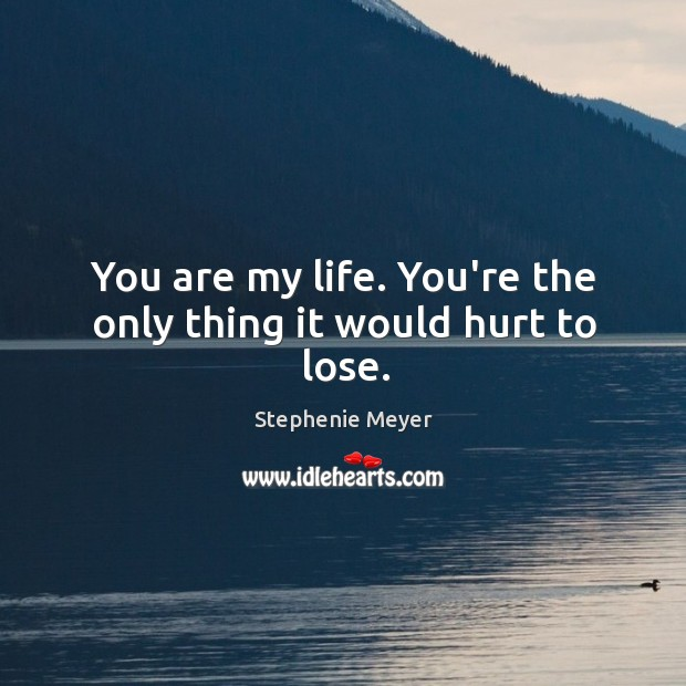 You are my life. You're the only thing it would hurt to lose. Image