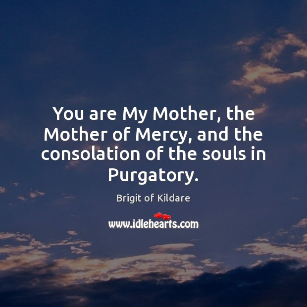 Image, You are My Mother, the Mother of Mercy, and the consolation of the souls in Purgatory.