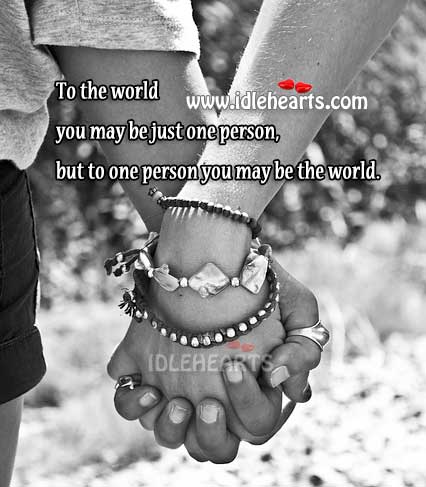 You Are Special To Someone In This World