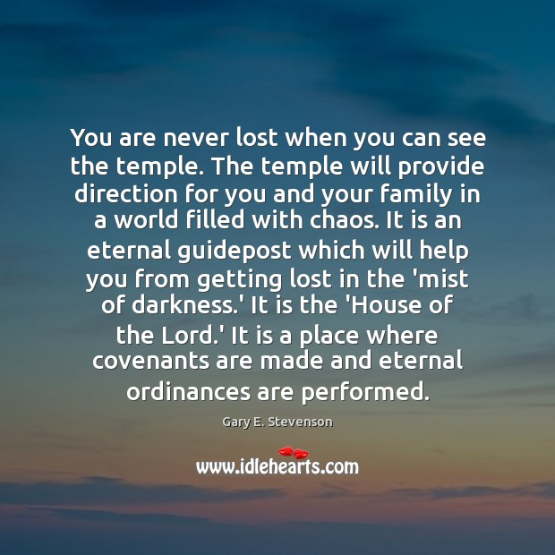 You are never lost when you can see the temple. The temple Image