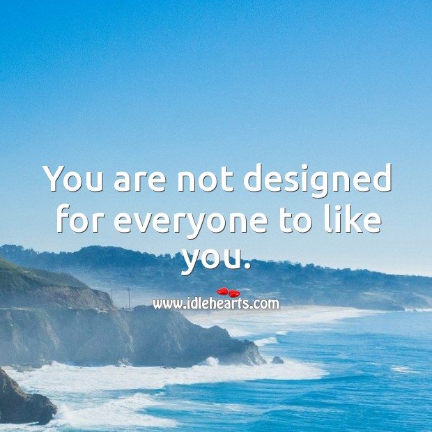 You are not designed for everyone to like you. Image
