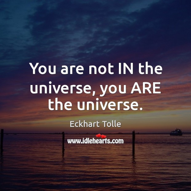 You are not IN the universe, you ARE the universe. Image