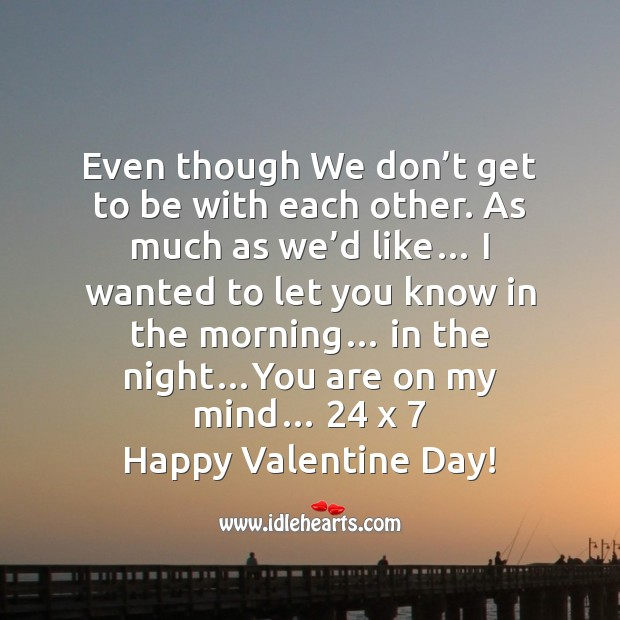 You are on my mind Valentine's Day Messages Image