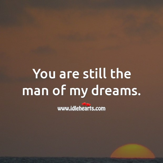 You are still the man of my dreams. Birthday Wishes for Husband Image
