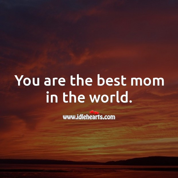 You are the best mom in the world. Birthday Messages for Mom Image