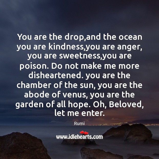 Image, You are the drop,and the ocean you are kindness,you are