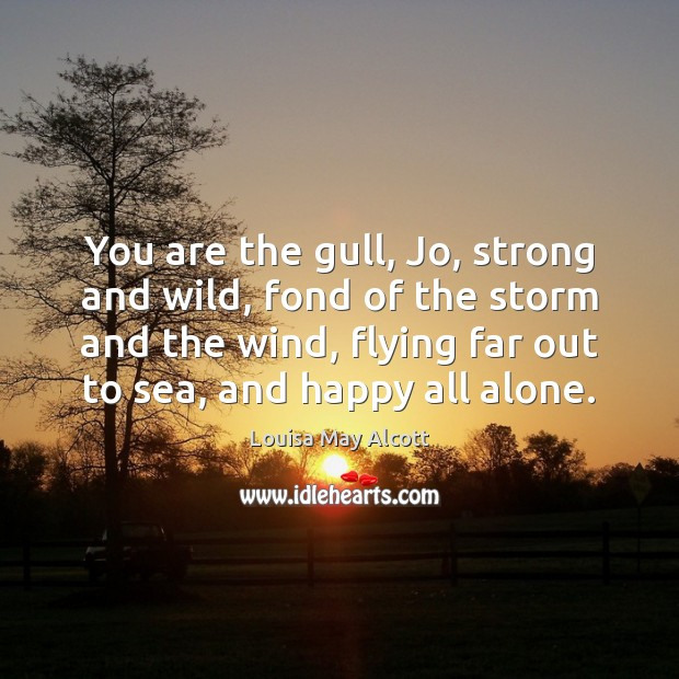 Image, You are the gull, Jo, strong and wild, fond of the storm