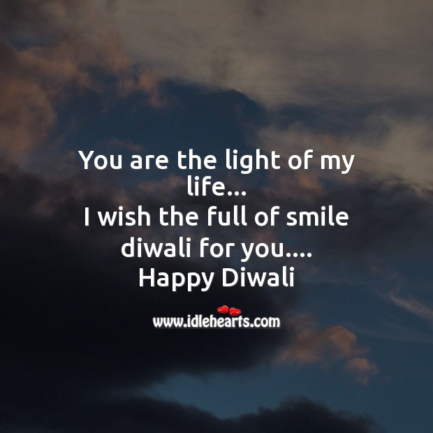 You are the light of my life Diwali Messages Image