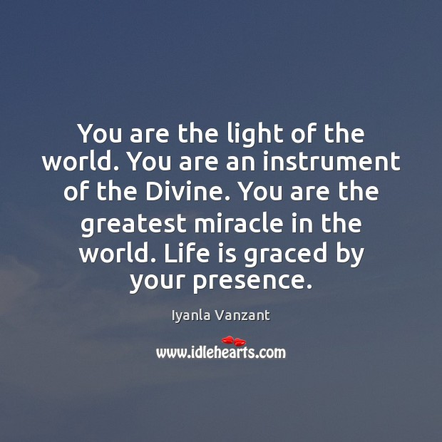 Image, You are the light of the world. You are an instrument of