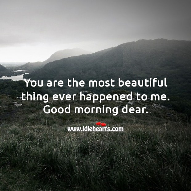 You are the most beautiful thing ever happened to me. Beautiful Love Quotes Image
