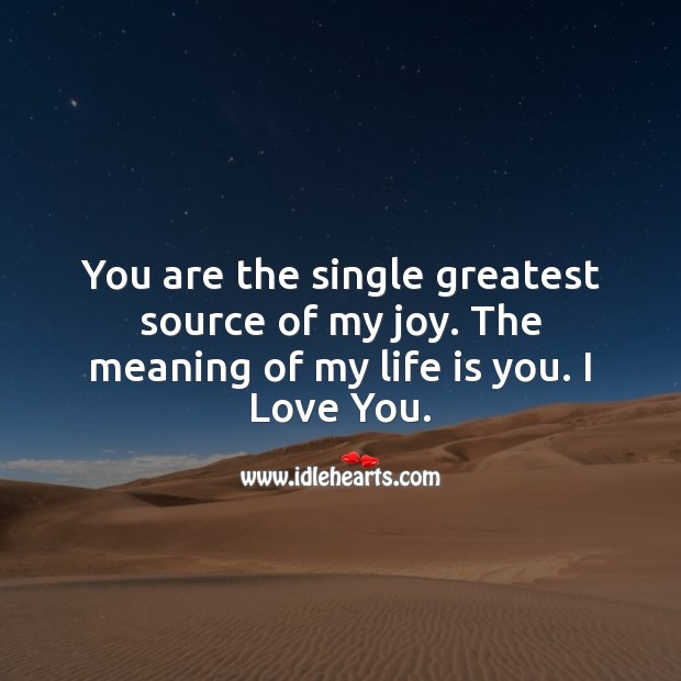 You are the single greatest source of my joy. Love Quotes for Her Image