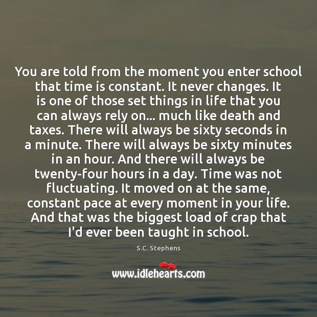 You are told from the moment you enter school that time is Image