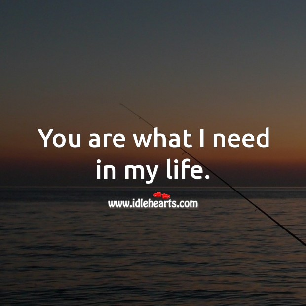 You are what I need in my life. Flirty Quotes Image