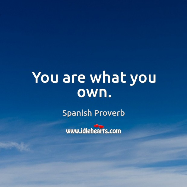 Image, You are what you own.