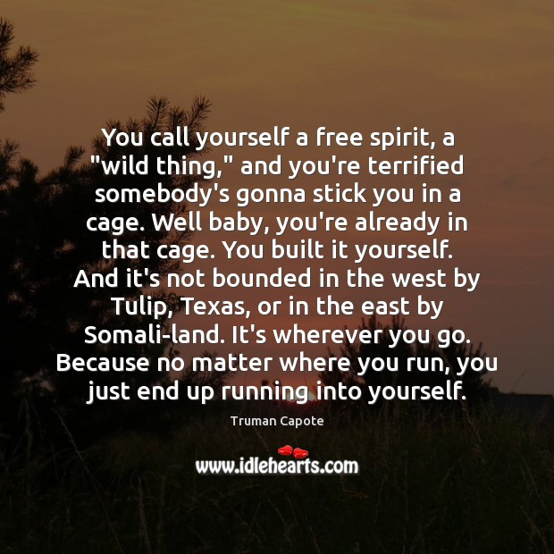 """Image, You call yourself a free spirit, a """"wild thing,"""" and you're terrified"""