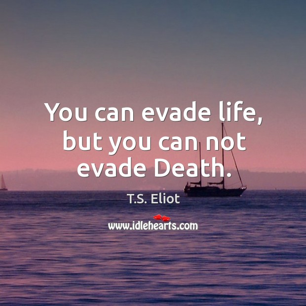 You can evade life, but you can not evade Death. Image