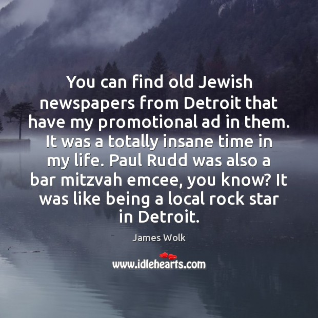 You can find old Jewish newspapers from Detroit that have my promotional Image