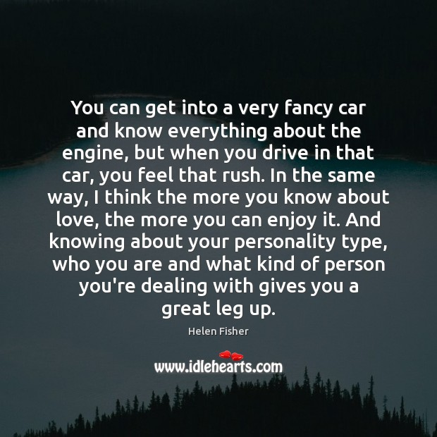 Image, You can get into a very fancy car and know everything about