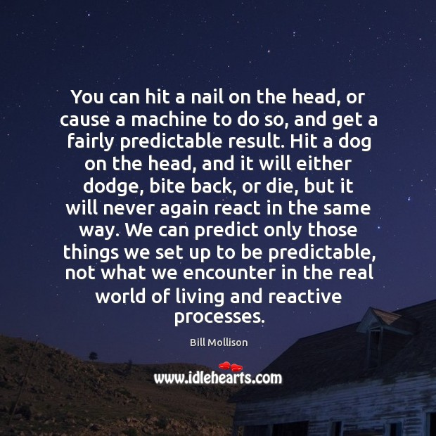 You can hit a nail on the head, or cause a machine Bill Mollison Picture Quote