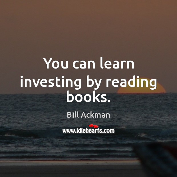 Image, You can learn investing by reading books.