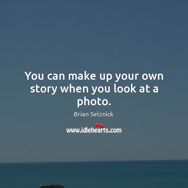Image, You can make up your own story when you look at a photo.