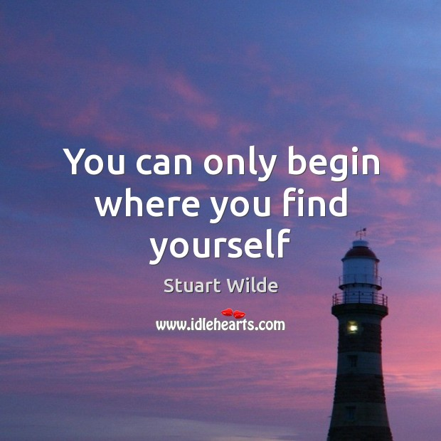 Image, You can only begin where you find yourself