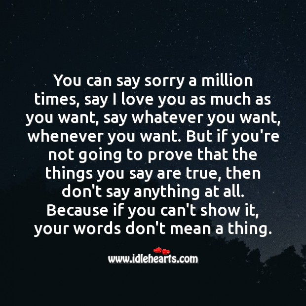 Image, You can say sorry a million times