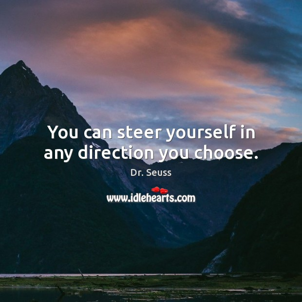 Image, You can steer yourself in any direction you choose.