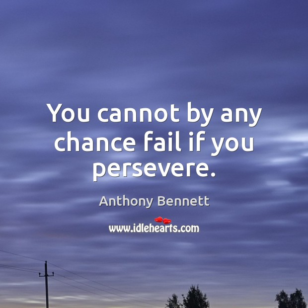 Image, You cannot by any chance fail if you persevere.