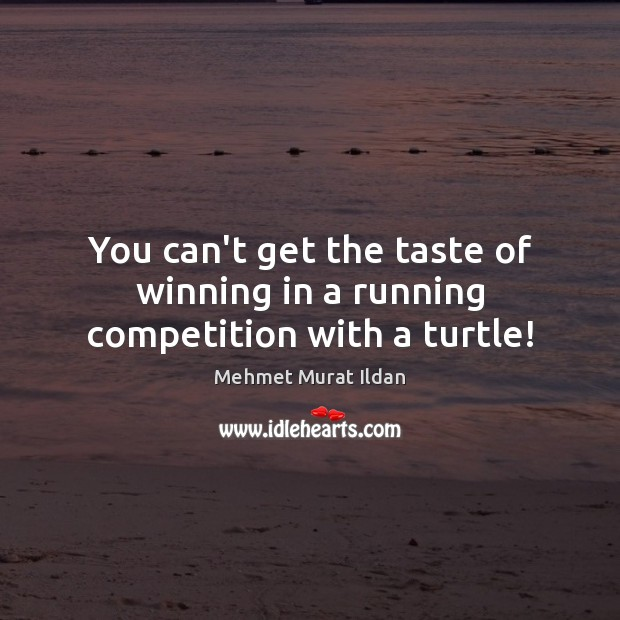 Image, You can't get the taste of winning in a running competition with a turtle!