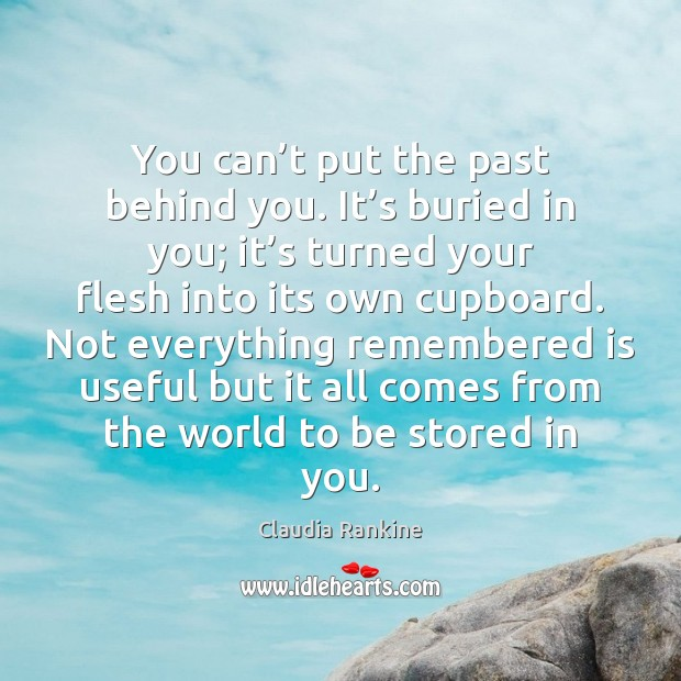 You can't put the past behind you. It's buried in Claudia Rankine Picture Quote