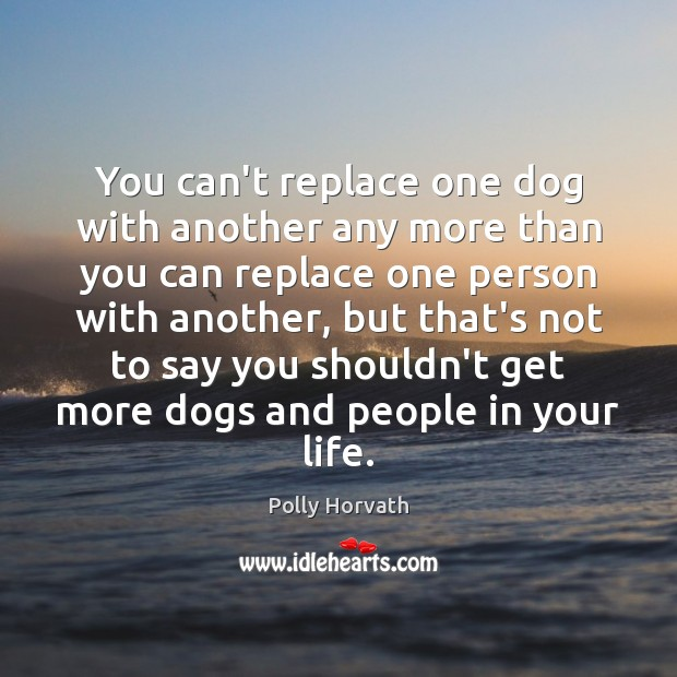 You can't replace one dog with another any more than you can Image