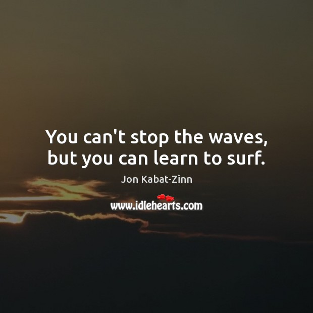 Image, You can't stop the waves, but you can learn to surf.