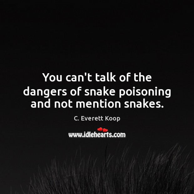You can't talk of the dangers of snake poisoning and not mention snakes. Image
