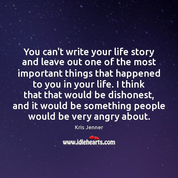 You can't write your life story and leave out one of the Image