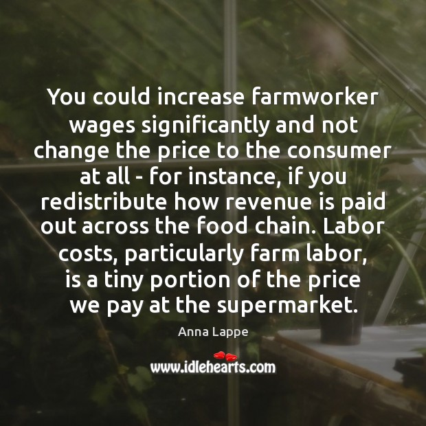 Image, You could increase farmworker wages significantly and not change the price to