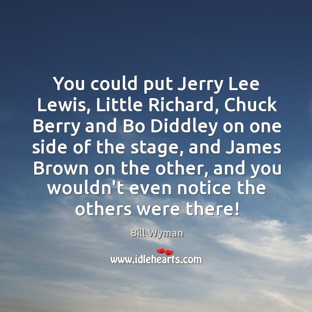 Image, You could put Jerry Lee Lewis, Little Richard, Chuck Berry and Bo