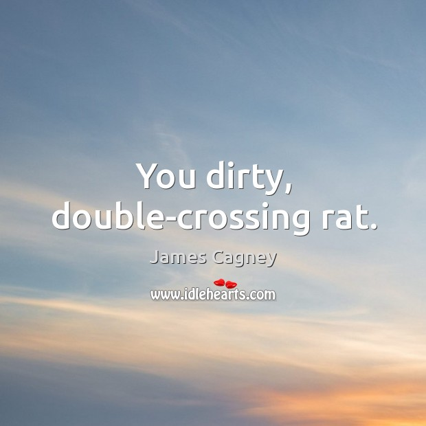 You dirty, double-crossing rat. Image