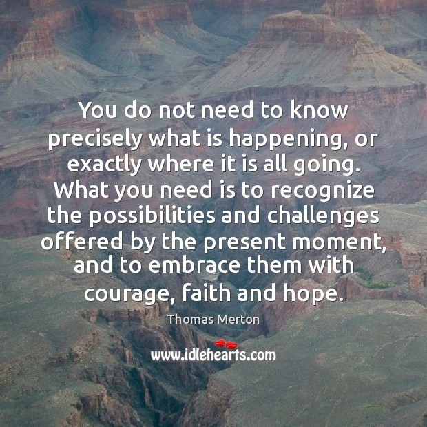 You do not need to know precisely what is happening, or exactly Image