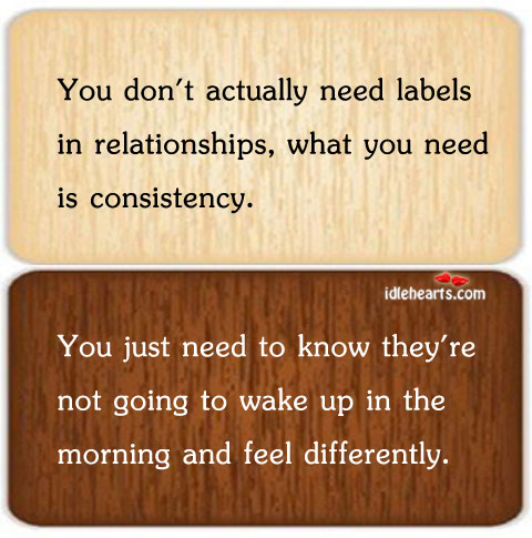 You Don't Actually Need Labels In Relationships, What You…