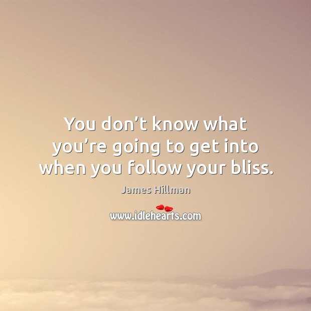 You don't know what you're going to get into when you follow your bliss. Image