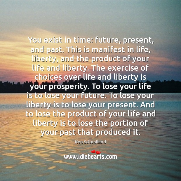You exist in time: future, present, and past. This is manifest in Image