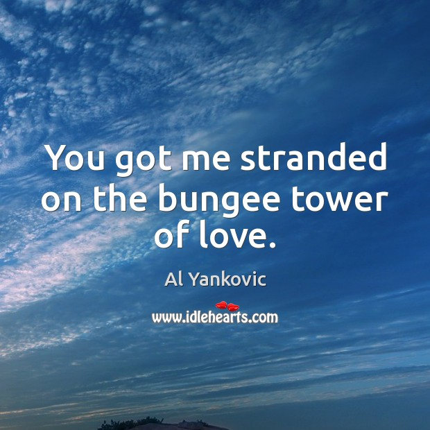 You got me stranded on the bungee tower of love. Al Yankovic Picture Quote