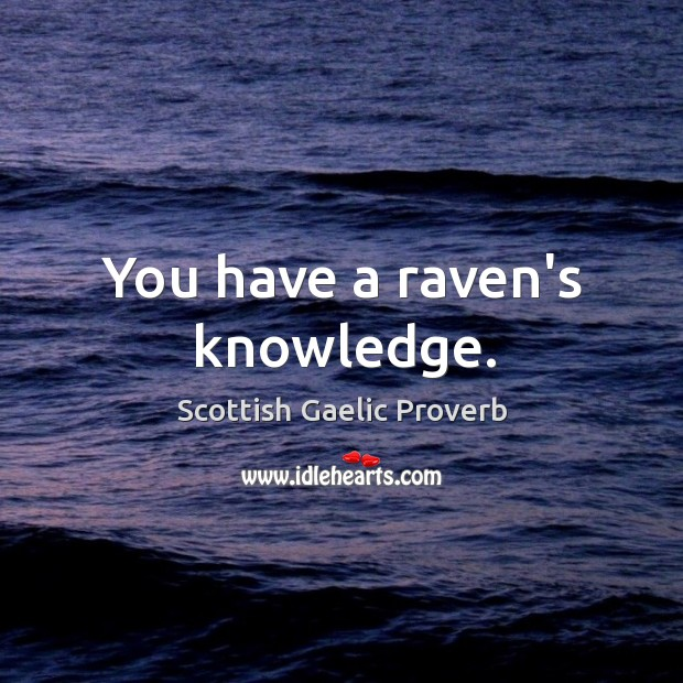 You have a raven's knowledge. Image