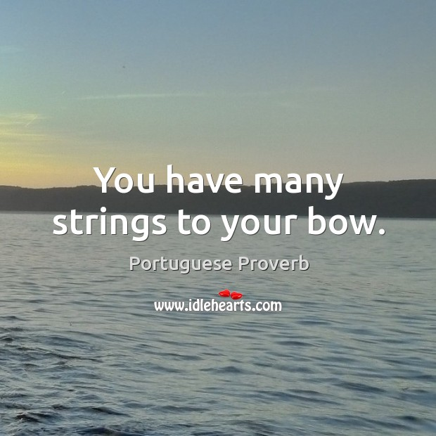 You have many strings to your bow. Image