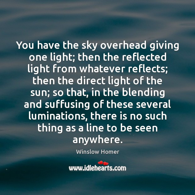 You have the sky overhead giving one light; then the reflected light Image