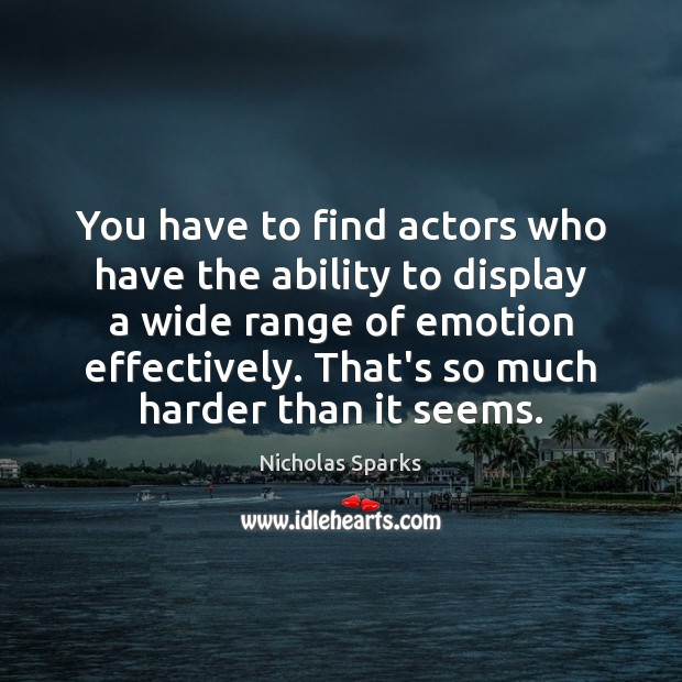 You have to find actors who have the ability to display a Image