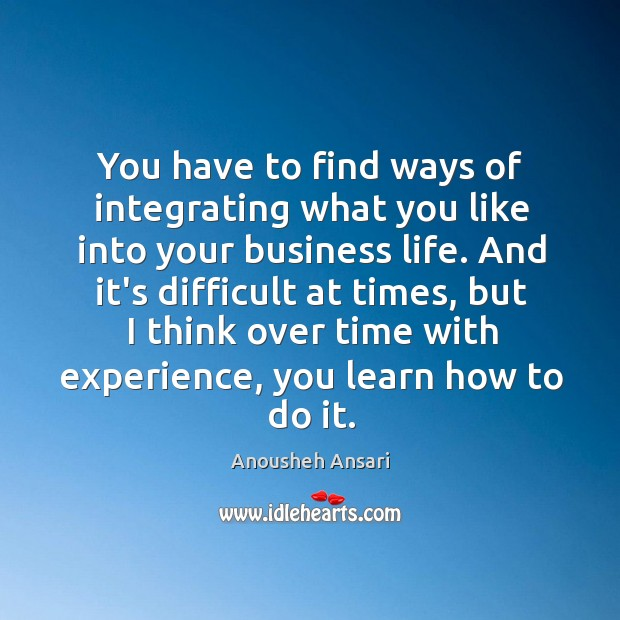 Image, You have to find ways of integrating what you like into your